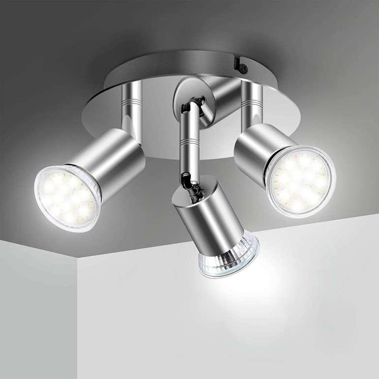 Efelandhome LED Deckenleuchte (3xGU10) für 11,99€ inkl. Prime Versand (statt 19€)