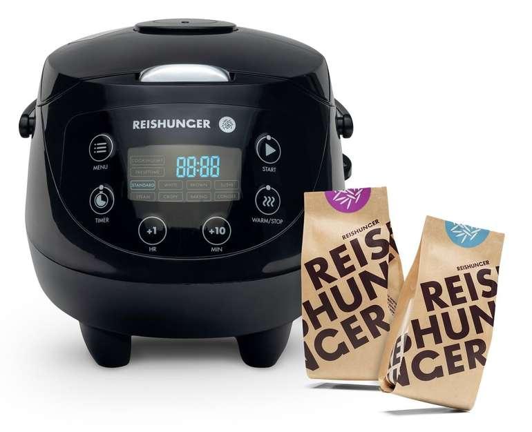 Reishunger Mini Reiskocher (0,6l, 350 W) + 200g Jasmin Reis + 200g Bio Basmati Reis für 74,99€ (statt 100€)