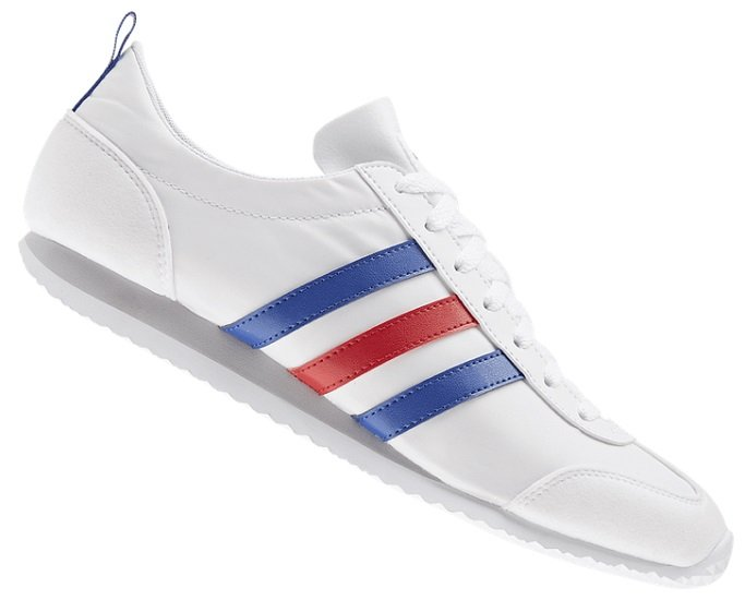 adidas Schuh VS Jogger Weiß/Blau für 29,95€ (statt 40€)
