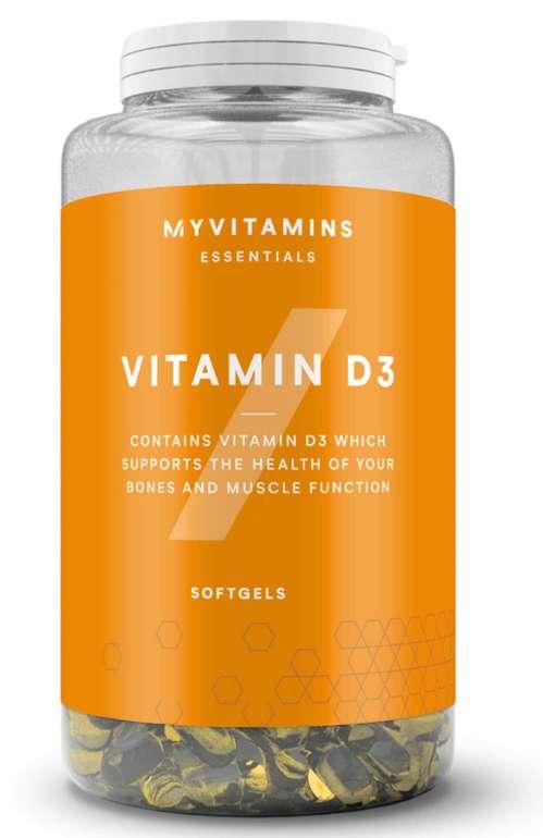 MyProtein Vitamin D3 Kapseln (180 Stück) für 11,58€inkl. Versand (statt 16€)