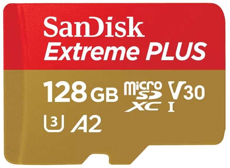 SanDisk Extreme Plus Micro-SDXC Speicherkarte (128 GB, 170 MB/s) für 17€ inkl. Versand (statt 30€)