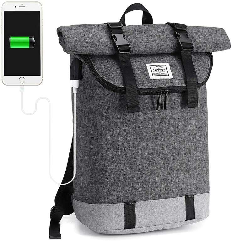 Joseko wasserdichter Roll Top Rucksack mit Laptop Fach für 22,79€ inkl. Prime Versand (statt 38€)