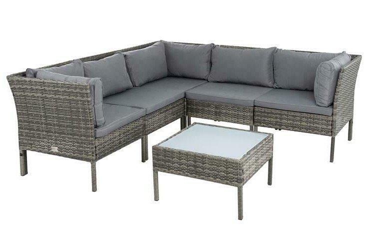 Estexo Polyrattan Lounge Set für 359,95€ inkl. Versand (statt 400€)
