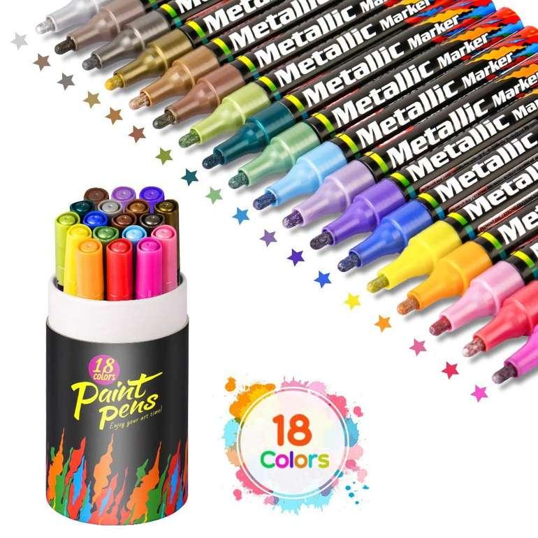 Aerb Metallic Marker (18 Farben) für 13,99€ inkl. Prime Versand (statt 19€)