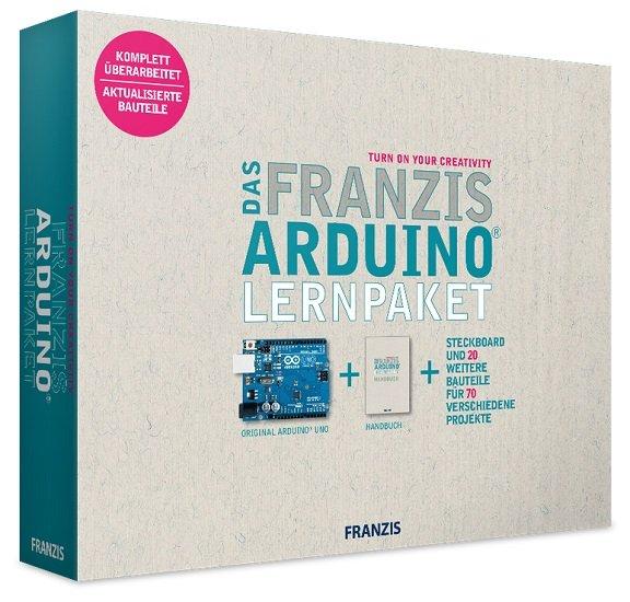Das Franzis Arduino Lernpaket inkl. Arduino-Uno-Platine & Steckbrett für 29,95€