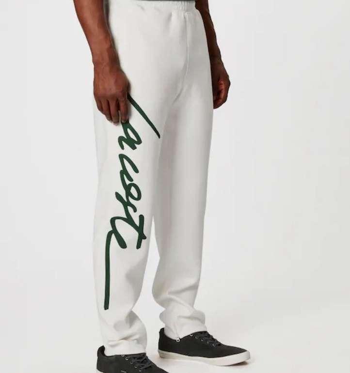 Lacoste Live Herren Hose 'Pantalon' in creme / dunkelgrün für 46,80€ (statt 104€)