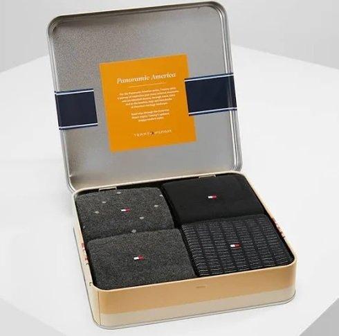 Tommy Hilfiger 4er Pack Business Socken in Geschenkbox für 17,94€ inkl. VSK (statt 25€)
