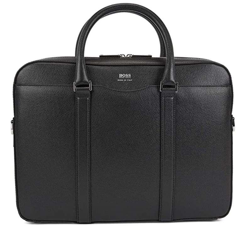 Hugo Boss Signature S Doc Tasche aus genarbtem Palmellato-Leder für 350,30€ inkl. Versand (statt 412€)