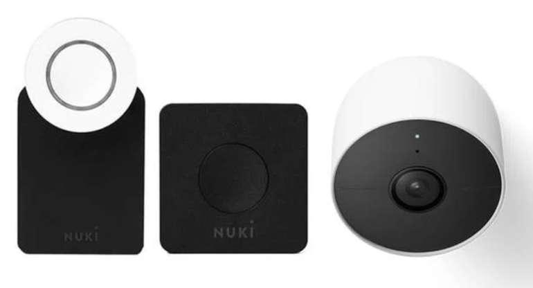 Tink: Google Nest Set Angebote - z.B. Nuki Combo 2.0 Smart Lock + Bridge + Google Nest Cam für 379,95€ (statt 471€)