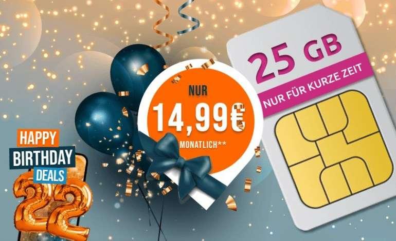 Logitel: Mobilcom-debitel Telekom Green Data XL Spezial mit 25GB LTE für 14,99€ mtl.