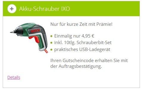 Bosch IXO V Akkuschrauber Klarmobil 2