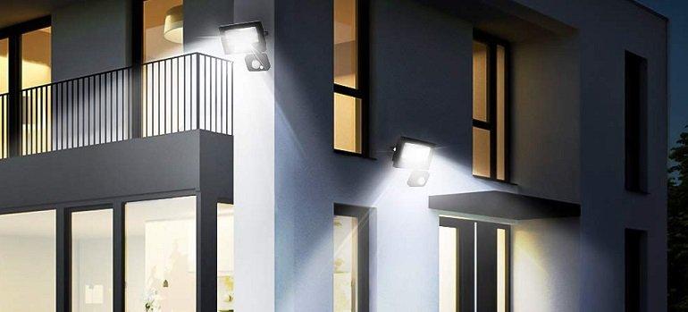 Doppelpack Ustellar 15W LED Strahler mit Bewegungsmelder 2