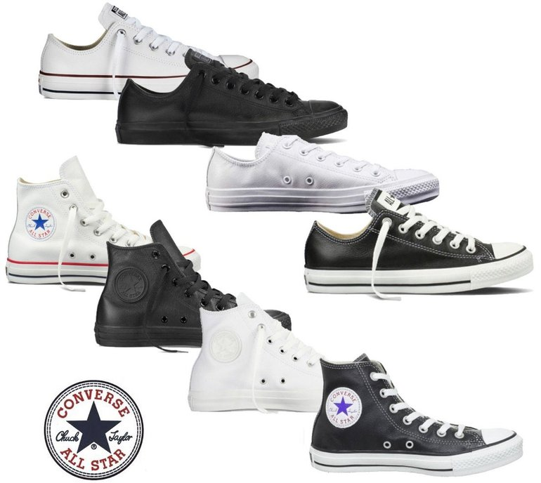 Converse Chucks Taylor All Star Hi & Low Leder Sneaker für.