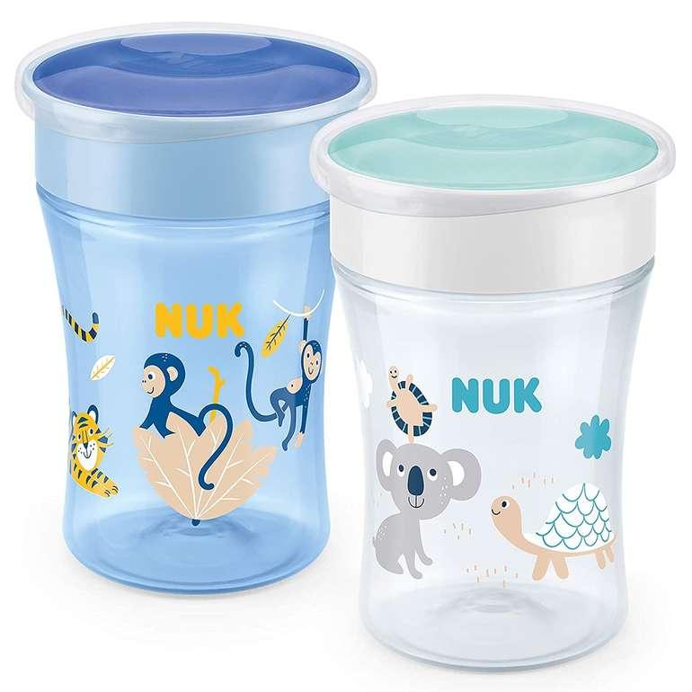 2er Pack NUK Magic Cup Trinklernbecher (auslaufsicherer 360°-Trinkrand, 230 ml) für 13,49€ inkl. Prime Versand (statt 22€)