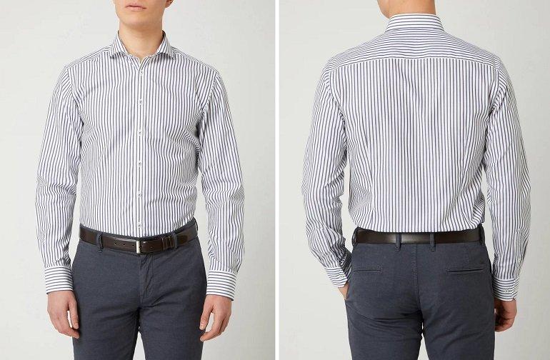 Bruun & Stengade Ted Slim Fit Business-Hemd 3