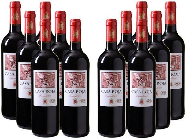12 Flaschen Casa Roja Tempranillo Rotwein (2016) für 39,96€ inkl. Versand