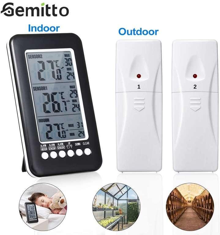 Gemitto Thermometer mit 2 Sensoren & Alarmfunktion für 14,99€ inkl. Prime Versand (statt 25€)