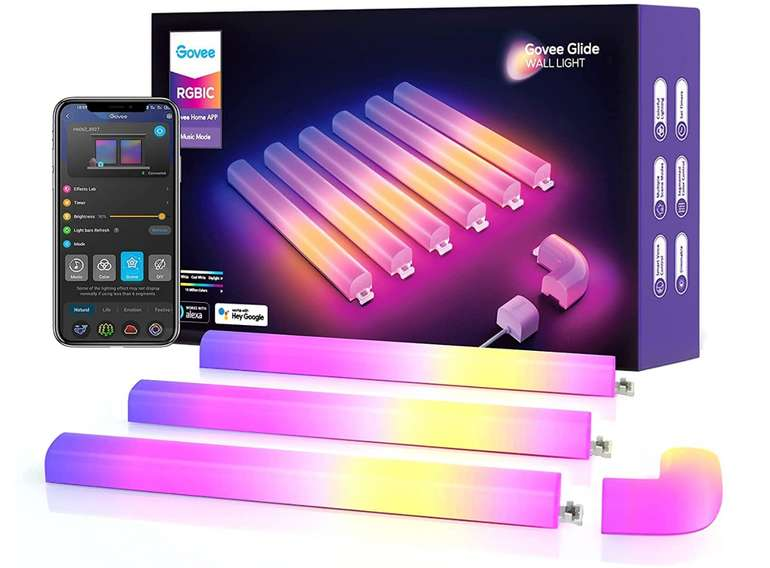 Govee Glide Wall Light Smart RGBIC Wandleuchte (Alexa-steuerbar) für 69,99€ inkl. Versand (statt 100€)