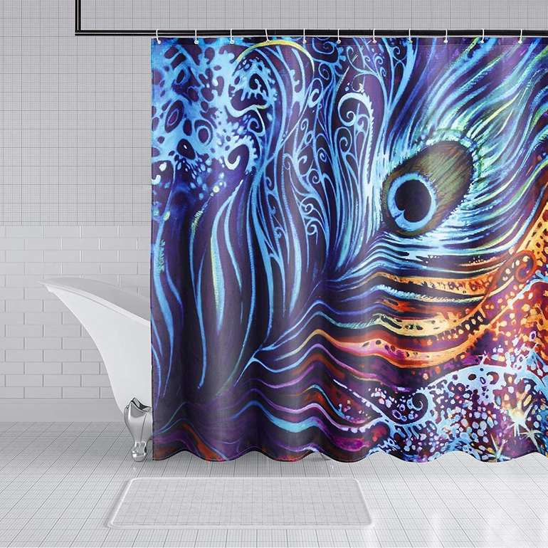 Lile Duschvorhang Set (120 x 180 cm) für 4,49€ inkl. Prime Versand (statt 10€)