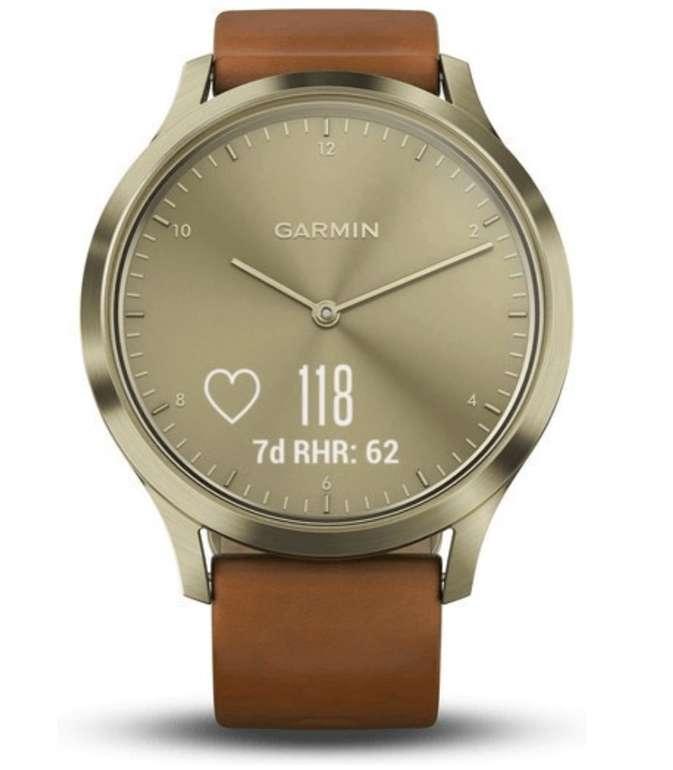 Garmin Vivomove HR Premium Smartwatch in gold/light brown für 131,71€ (statt 220€)