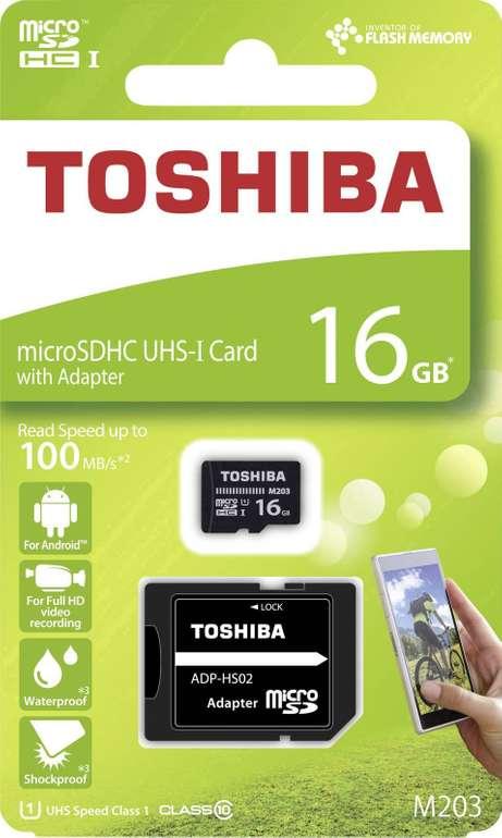 Knaller! Toshiba M203 16GB microSD Speicherkarte für 2€ (statt 10€) - Masterpass