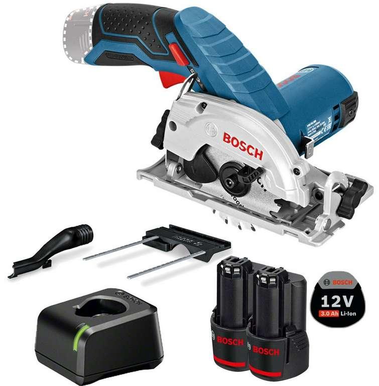 "Bosch Akku-Kreissäge ""GKS 12V-26"" Professional + 2x 3,0 Ah Akku + Ladegerät für 131,76€ inkl. Versand (statt 155€)"