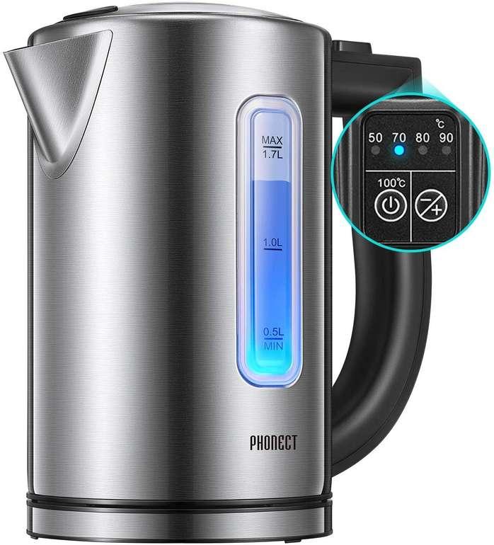 Phonect elektrischer Wasserkocher (1,7L, BPA-frei) für 20€ inkl. Versand (statt 50€)