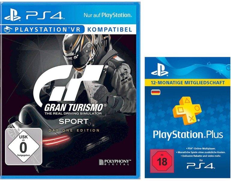 Sony Gran Turismo Sport Day 1 Edition + 12 Monate PlayStation Plus für 54€