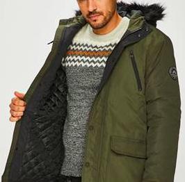 Tokyo Laundry Lenart Fur Trim Hooded Parka Jacket für 28,94€ inkl. Versand
