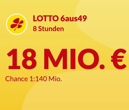 Lotto24: Lotto 6aus49 mit 10 Feldern für 10€ spielen - 18 Millionen € im Jackpot (nur Neukunden!)