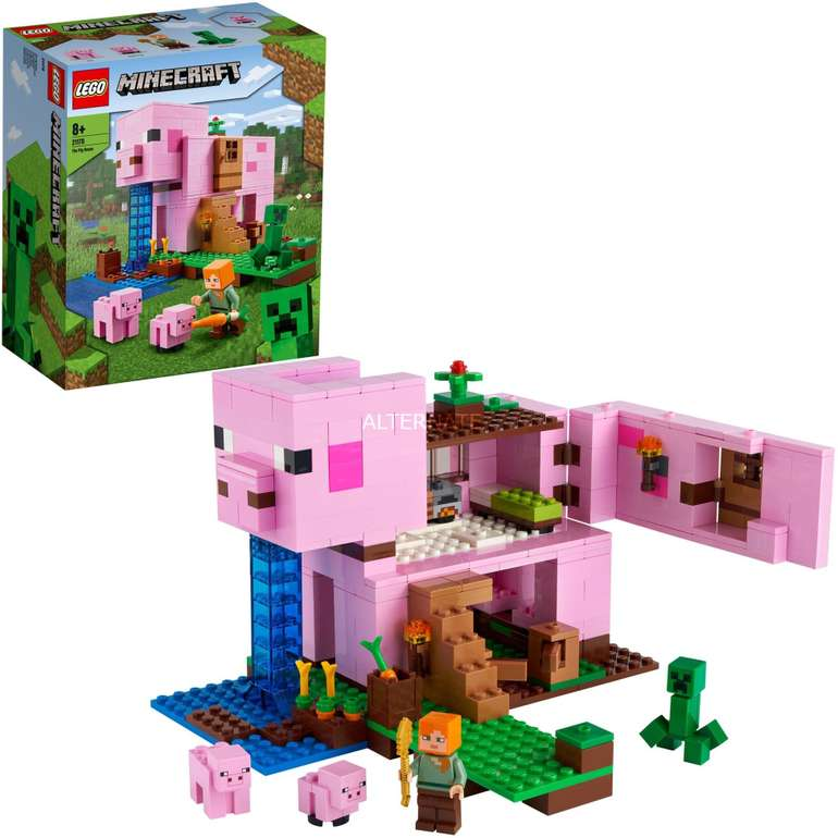 Amazon Prime Day: Lego Minecraft 21170 - Das Schweinehaus für 28,79€ (statt 37€)