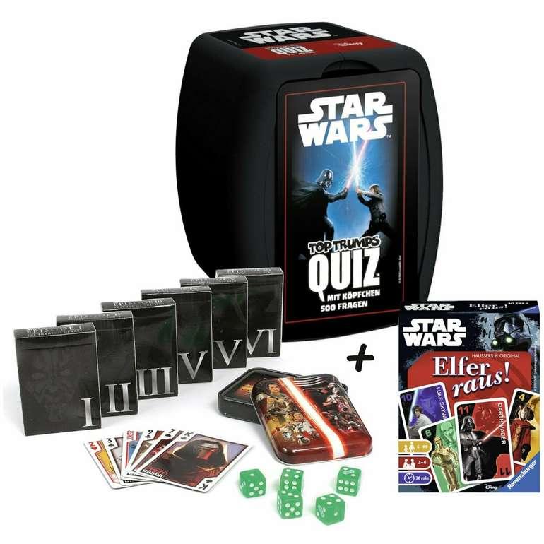 Das große Star Wars Spielebundle (Quiz + Spielkarten + Elfer raus) für 29,95€ (statt 38€)