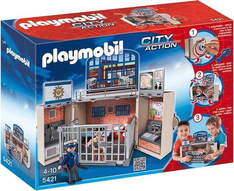 Playmobil City Action 5421 - Aufklapp-Spiel-Box - Polizeistation für 21,31€ (statt 35€)