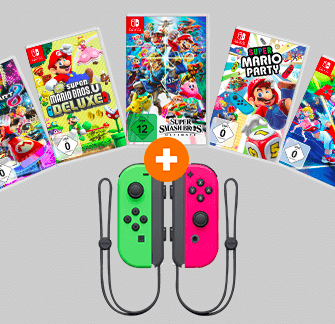 Top Switch Spiel z.B. Super Mario Party + 2er Set Joy Cons für 99€ (statt 110€)