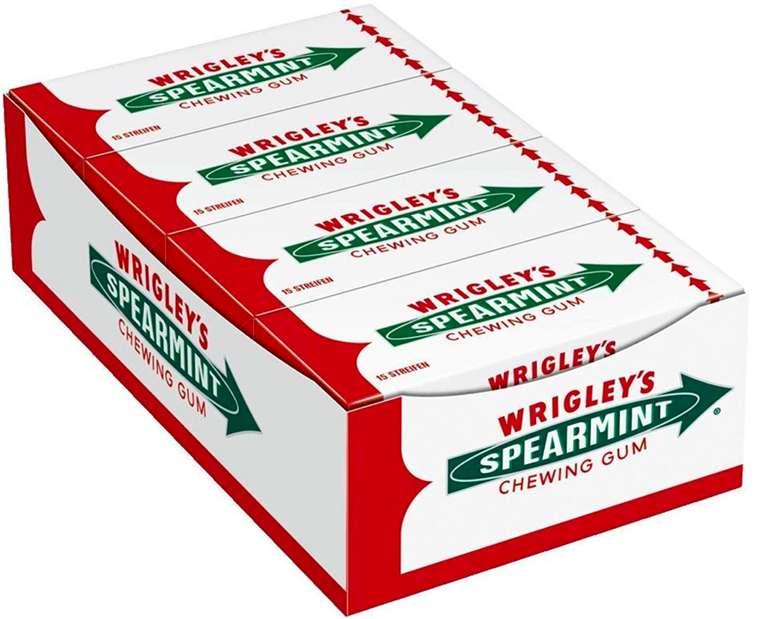 Wrigley's Spearmint Kaugummi (8 Packungen mit je 15 Streifen) für 4,27€ inkl. Prime Versand (statt 7€)