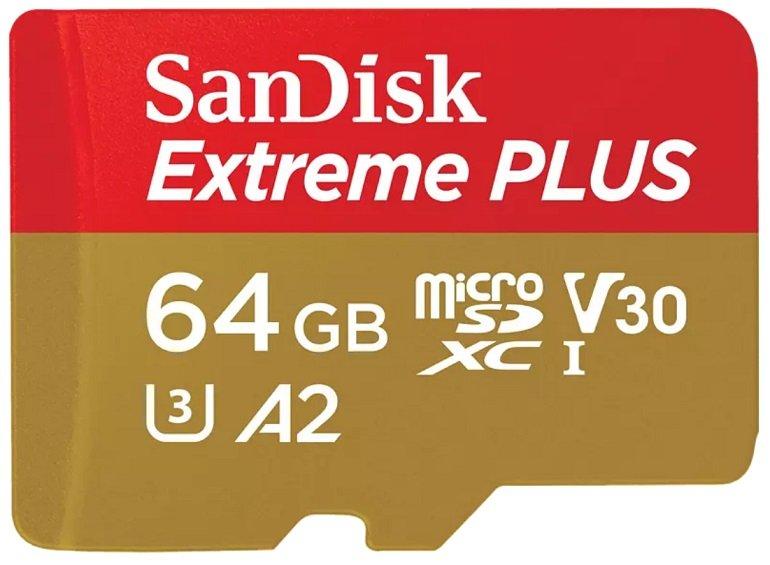 SANDISK Extreme Plus 64GB Micro-SDXC Speicherkarte für 13€ (statt 16€)