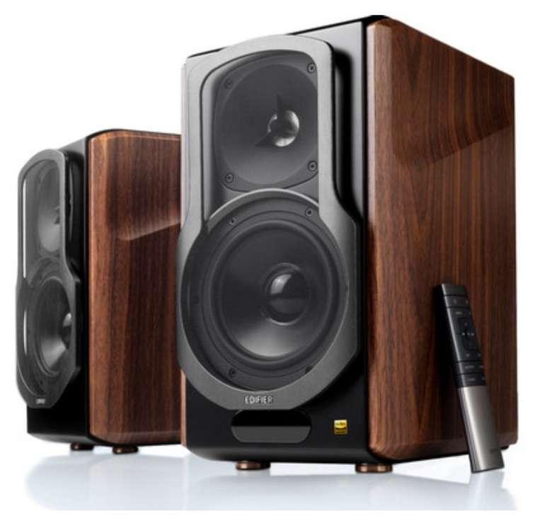Edifier S2000 MKIII 2.0 Regallautsprecher Paar (130 Watt, aktiv, aptX Bluetooth, inkl. Fernbedienung) für 297,10€