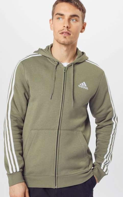 Adidas Performance Sweatjacke in oliv/weiß für 29,90€ inkl. Versand (statt 49€) - S,M,L