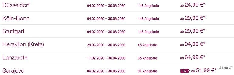Eurowings Rabatt 2