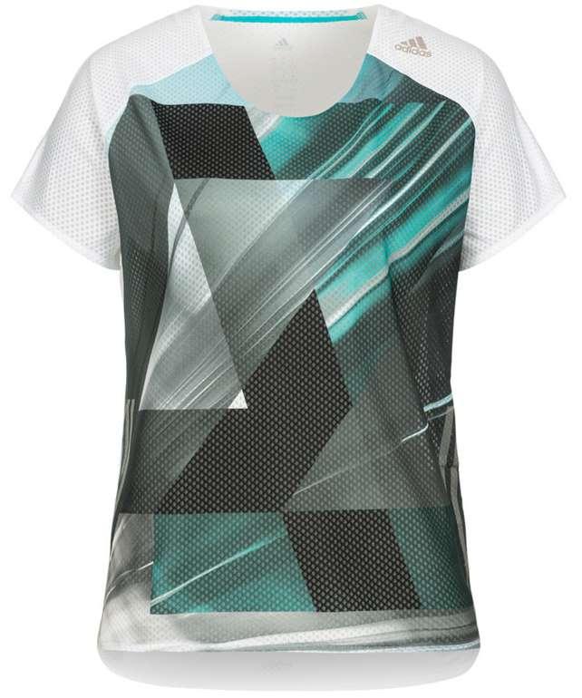 adidas Performance adizero Damen Laufshirt in blau/grün für 13,94€ inkl. Versand (statt 20€)