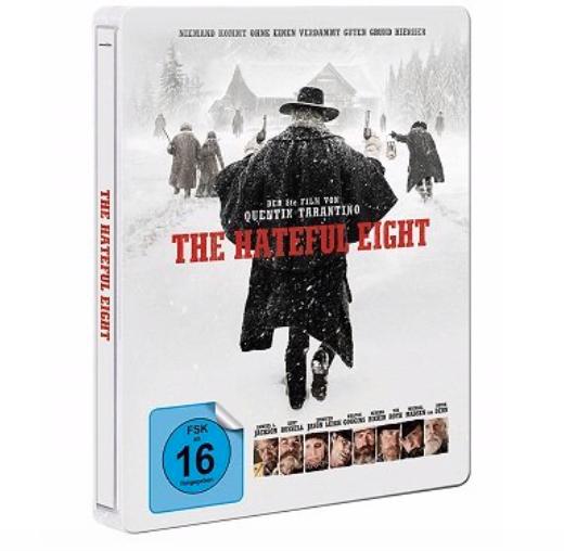 Saturn Entertainment Weekend Deals, z.B The Hateful 8 Steel-Edition (Blu-ray) 9€