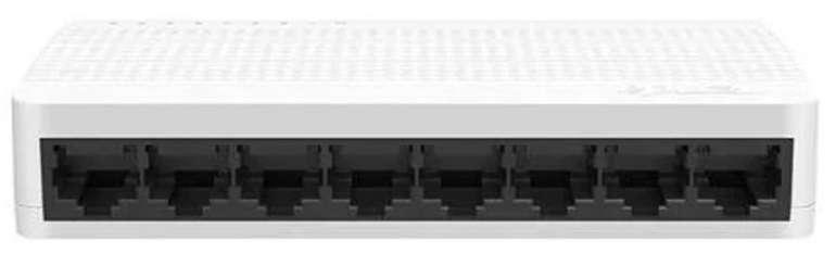 Tenda S108 8-Port 10/100Base-T Switch (2k MAC-Table, unmanaged, passiv, max. 2,15W, Flow control) für 4,50€