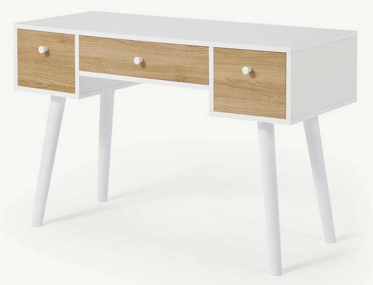 Larsen Schreibtisch in Eichen-Finish und Weiß für 169€inkl. Versand (statt 249€)