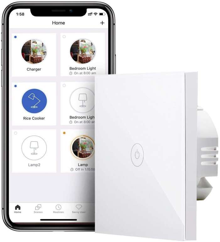 Meross 1-Weg Smart WLAN Wandschalter für 10,79€ inkl. Prime Versand (statt 18€)