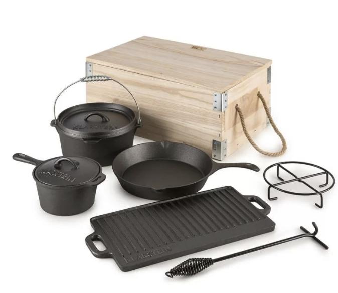 Klarstein Kochgeschirr-Set Hotrod BBQ (7-tlg.) für 83,30€inkl. Versand (statt 135€)