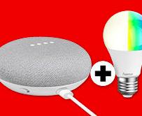 Google Home Mini + Hama Wifi LED-Lampe ab 49€ (Vergleich: 58€)