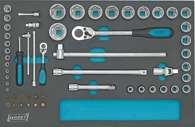 Hazet Werkzeugsatz 56-teilig für Werkstattwagen für 349,99€ inkl. Versand (statt 434€)