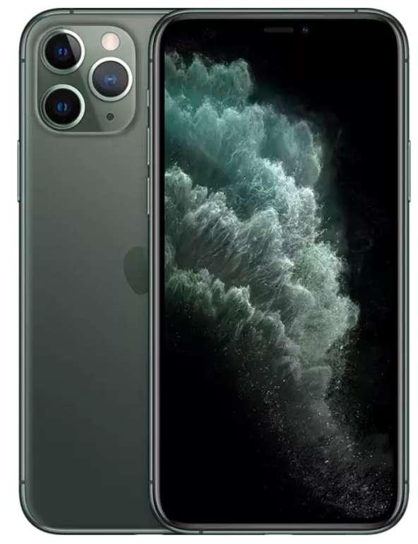 Apple iPhone 11 Pro 64GB in nachtgrün oder silber (OLED Display, iOS 13) für 679€ (statt 729€)