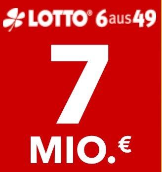 Lottohelden: 6 Felder 6aus49 für 1€ (statt 6€) - aktuell sind 7 Millionen € im Jackpot