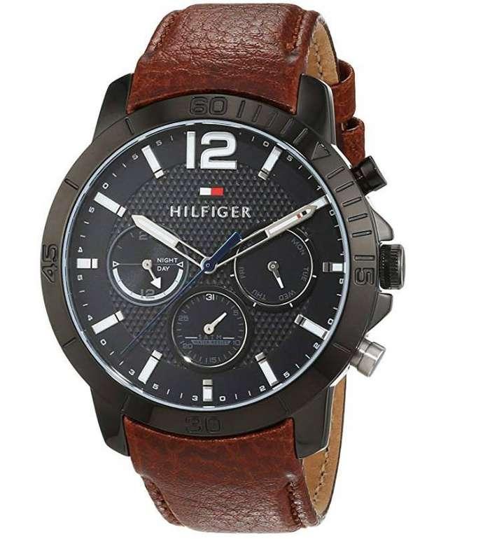 Tommy Hilfiger Herren Analog Quarz Uhr mit Leder Armband (1791269) für 96,28€